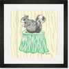 Perched Squirrel Framed Art Print