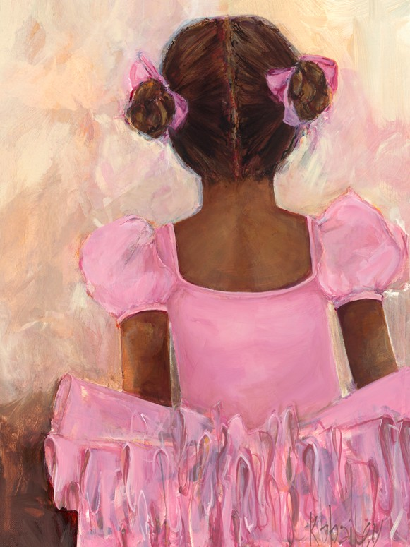 Perfect Ballerina African American Canvas Wall Art by