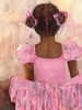 Perfect Ballerina - African American Canvas Wall Art