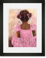 Perfect Ballerina African American Framed Art Print By