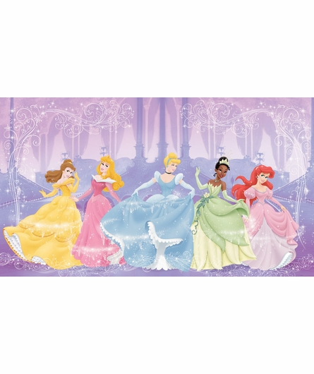 Perfect Princess Chair Rail Prepasted Wall Mural