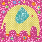 Perfectly Patterned Elephant Canvas Wall Art
