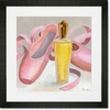 Perfume & Ballet Shoes Framed Art Print