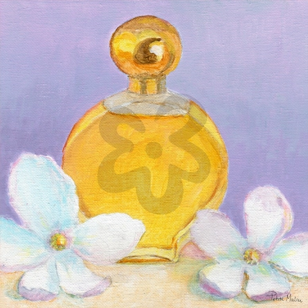 Perfume & Magnolia - Lavender Canvas Wall Art