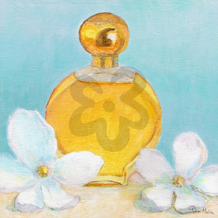 Perfume & Magnolia - Turquoise Canvas Wall Art