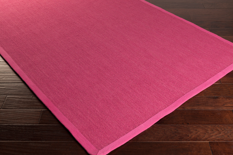 Perry Solid Border Rug In Hot Pink By Surya