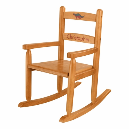 Personalized 2-Slat Rocking Chair - Honey