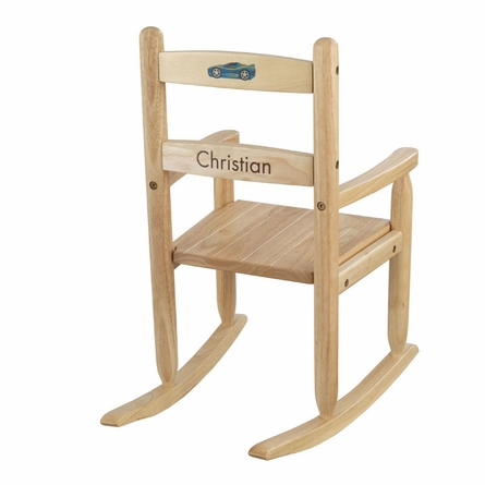 Personalized 2-Slat Rocking Chair - Natural