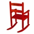 Personalized 2-Slat Rocking Chair - Red