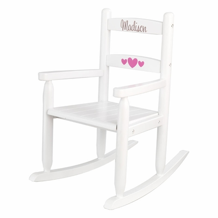 Personalized 2-Slat Rocking Chair - White