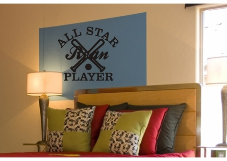 Personalized All Star Player Wall Decal