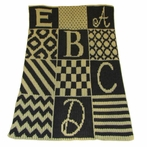 Personalized Alphabet Blocks Stroller Blanket