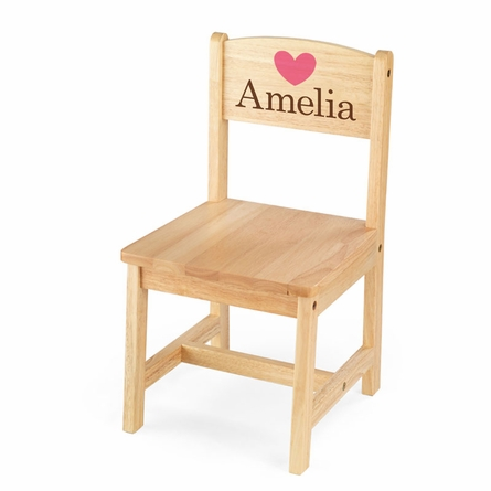 Personalized Aspen Single Chair in Natural
