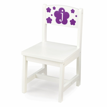 Personalized Aspen Single Chair in White