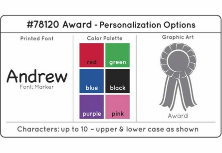 Personalized Award Medal Holder in White