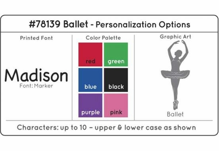 Personalized Ballet Medal Holder in White