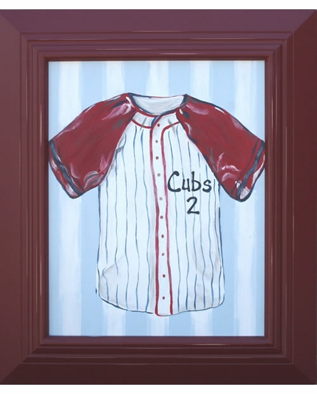 Personalized Baseball Jersey Hand Painted Canvas