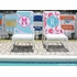 Personalized Beach Towel in Quatrefoil