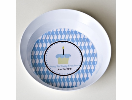 Personalized Birthday Plate in Blue