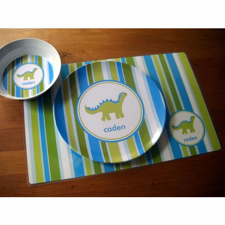 Personalized Boys 3-Piece Dinnerware Set