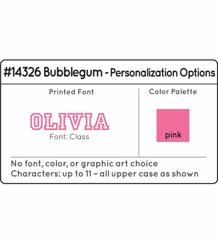 Personalized Bubblegum Medium Locker