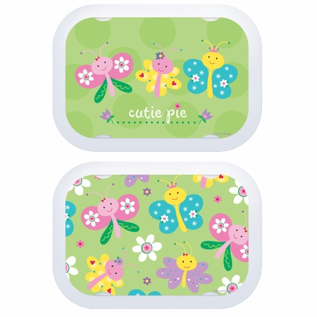 Personalized Butterfly Trio Name Lunch Box - Lavender