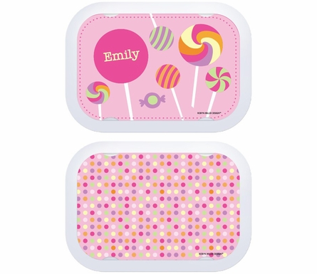 Personalized Candy Lunch Box - Pink