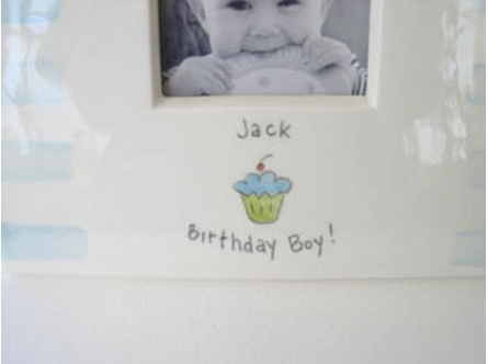 Personalized Ceramic Birthday Picture Frame