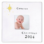 Personalized Ceramic Christmas Star Picture Frame
