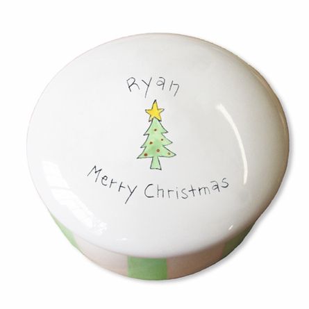 Personalized Ceramic Merry Christmas Box