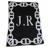 Personalized Chain Link Stroller Blanket