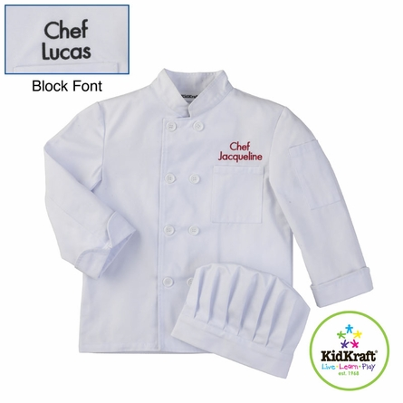 Personalized Chef Jacket & Hat Set