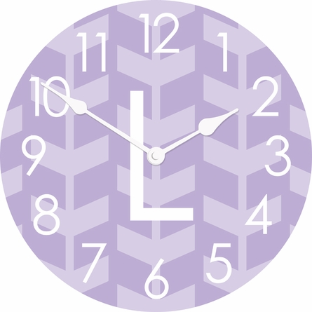 Personalized Chevron Arrows Wall Clock