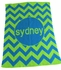 Personalized Chevron Stroller Blanket