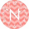 Personalized Horizontal Chevron Wall Clock