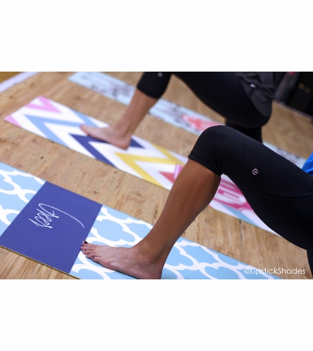 Personalized Chevron Yoga Mat
