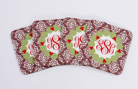 Personalized Christmas Coaster Set