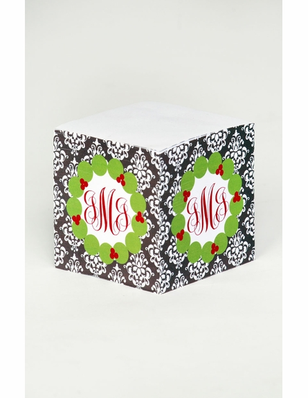 Personalized Christmas Note Cube
