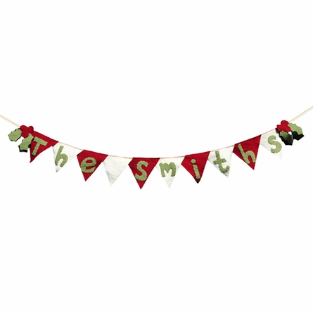 Personalized Christmas Winter Holiday Flag Banner