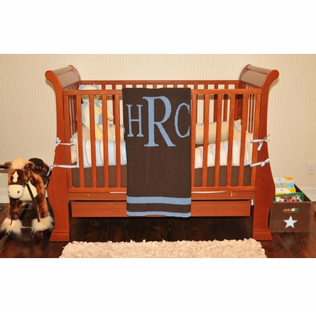 Personalized Classic Monogram Stroller Blanket