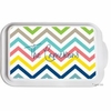Personalized Colorful Chevron Casserole Serving Dish