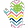 Personalized Colorful Chevron Pot Holder