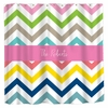 Personalized Colorful Chevron Shower Curtain
