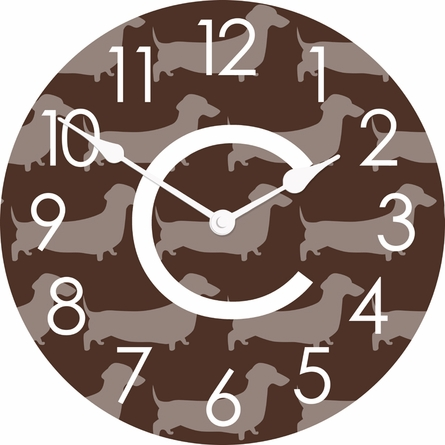 Personalized Dachshund Wall Clock