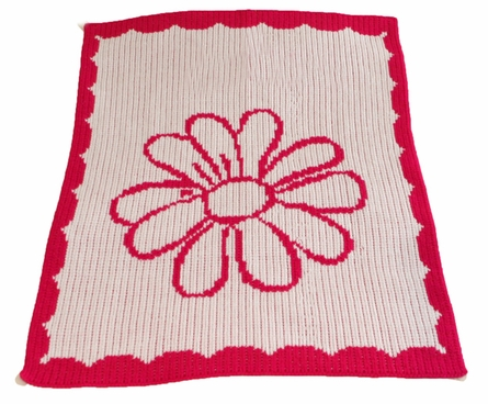 Personalized Daisy Blanket