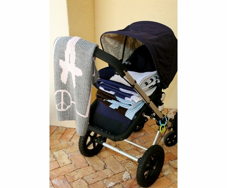 Personalized Daisy Name Stroller Blanket