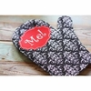 Personalized Damask Pot Holder