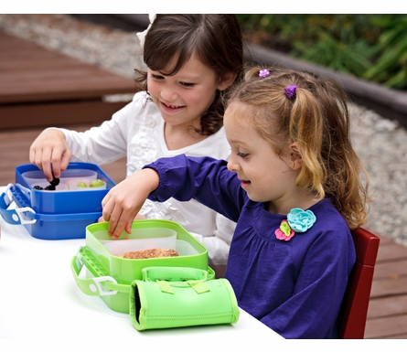 Personalized Dinosaurs Lunch Box - Blue