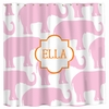 Personalized Elephants Shower Curtain