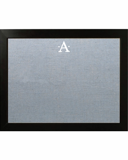 Personalized Embroidered Initial Bulletin Board With Standard Frame